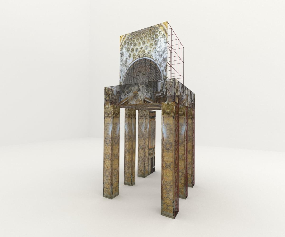stefanomimmocchi rendering lavori fotomontaggio per cssrestauri modello 3D