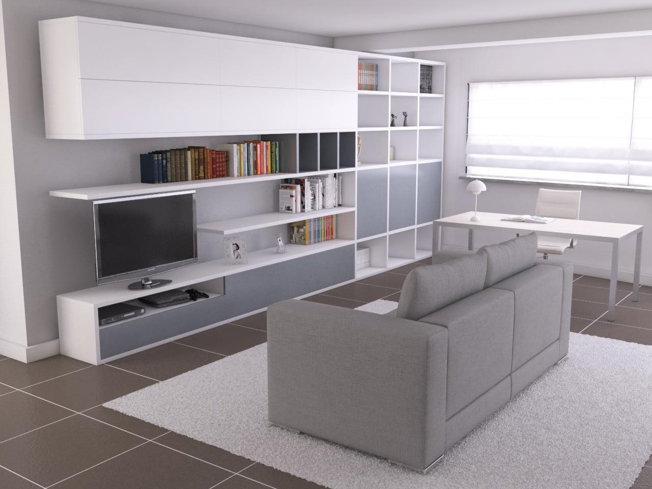 Studio mimmocchi rendering render progetto arredo per for Progetto arredo