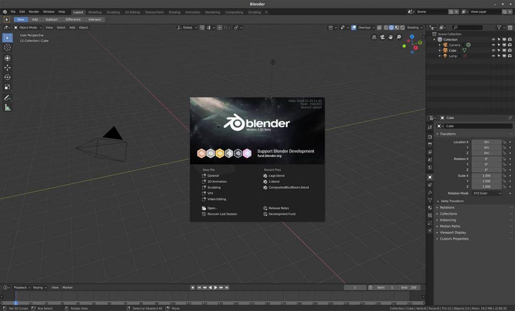 blender 2.8 versione beta - articoli - stefano mimmocchi rendering