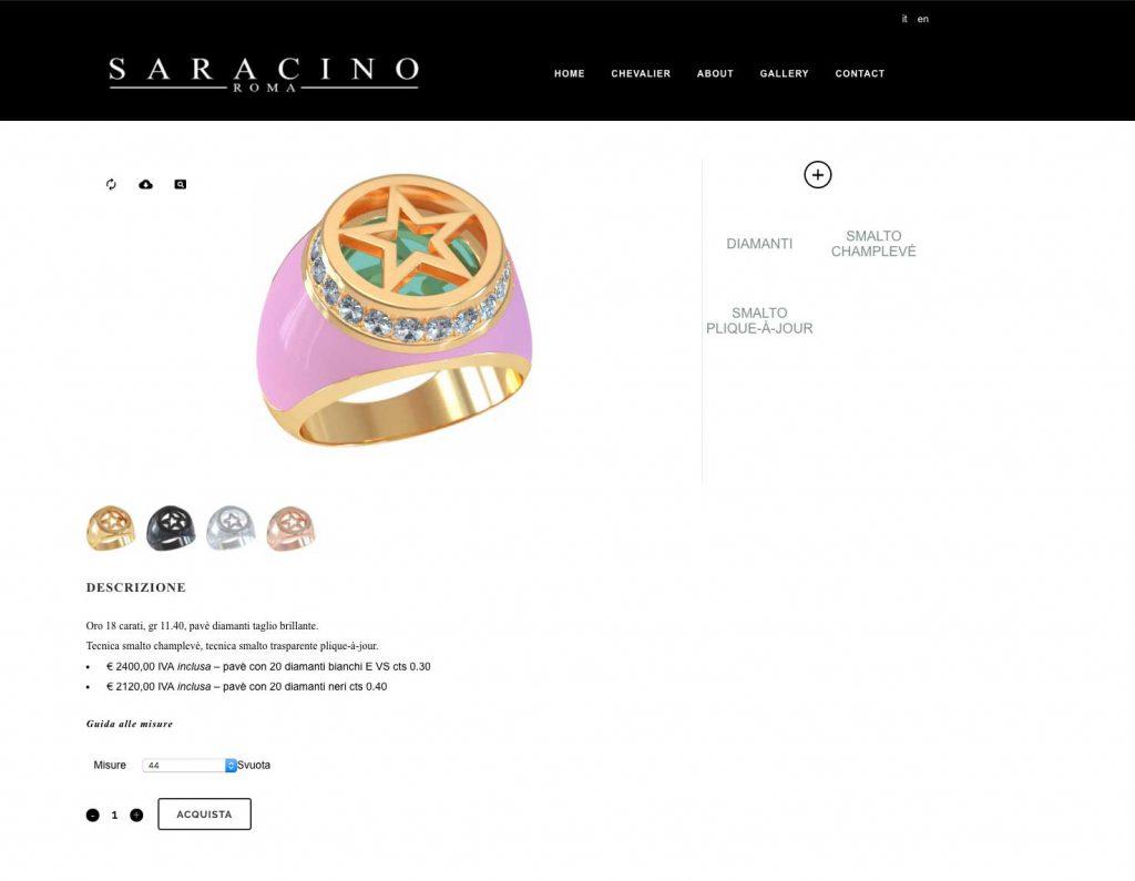 sito saracino roma - realizzazione siti e-commerce - studio di grafica stefano mimmocchi rendering - posizionamento SEO