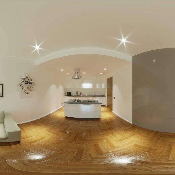 virtual tour 360° appartamento - Rendering 360° - lavori - portfolio lavori - Rendering 360° agenzia immobiliare