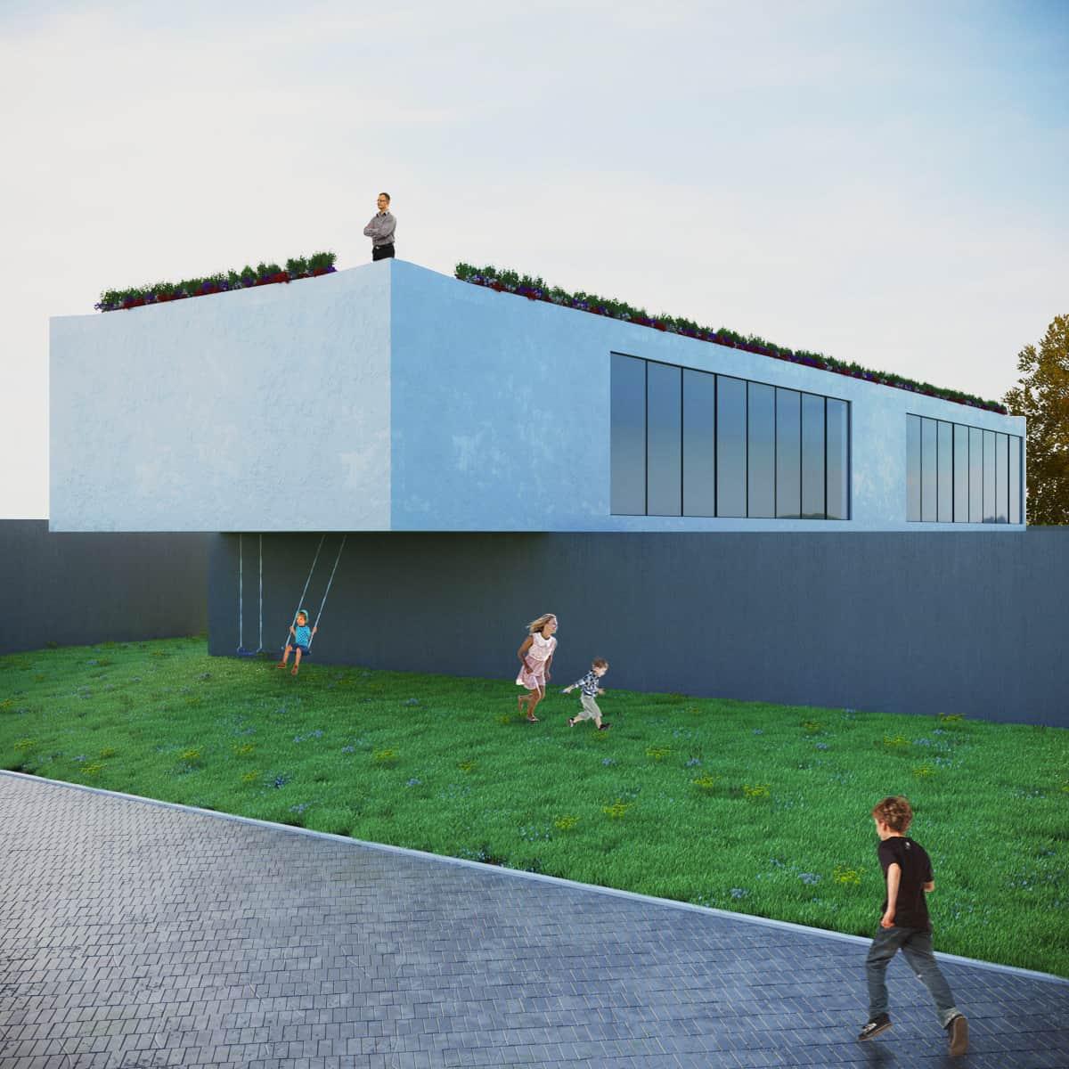 rendering esterni area giochi - rendering roma - rendering progetto - rendering architettura - studio rendering roma - preventivo rendering esterni - render esterni per l'architettura