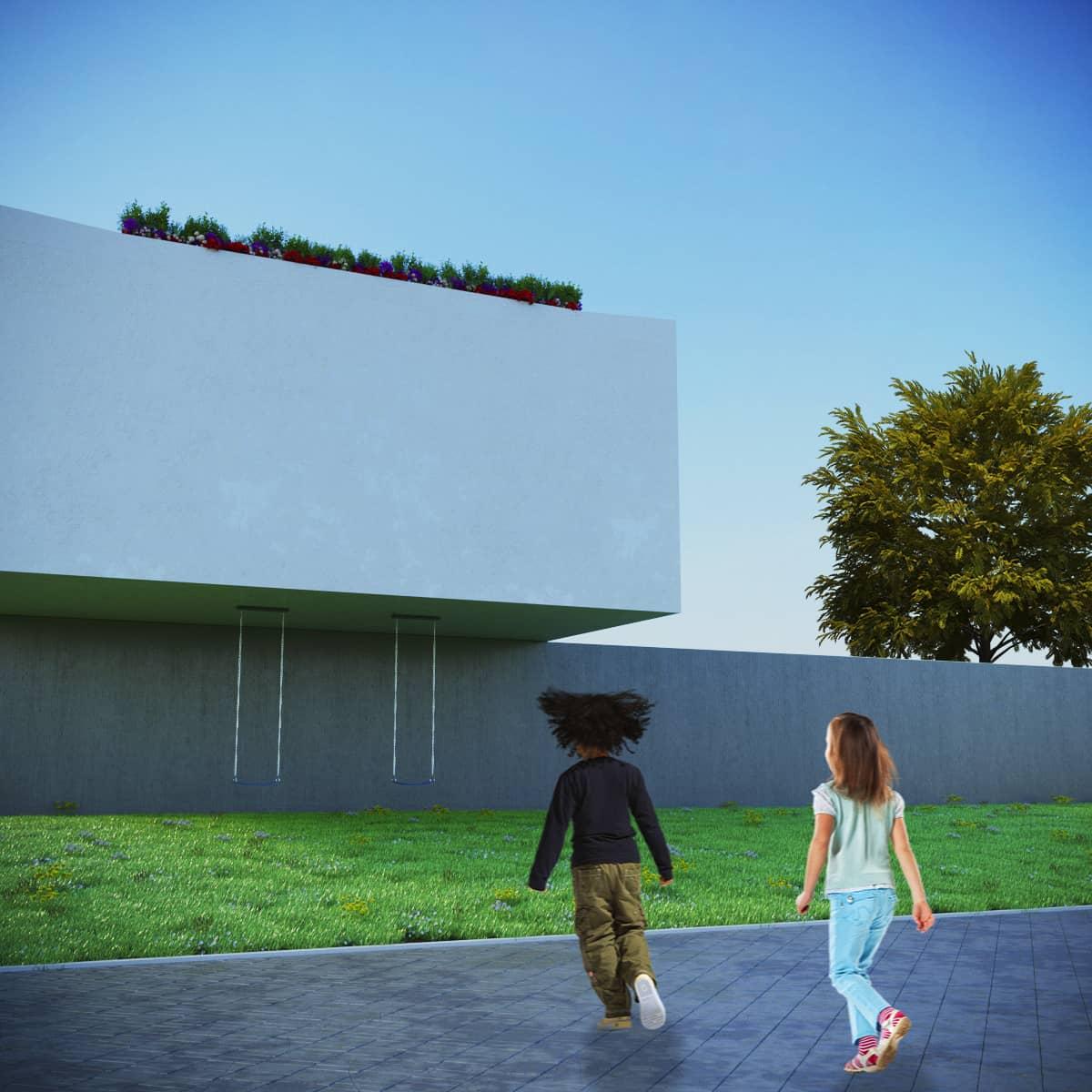 rendering esterni per proposta di progetto - rendering roma - rendering progetto - rendering architettura