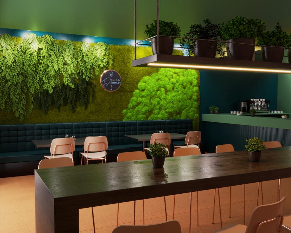 rendering bar - rendering locale commerciale - rendering interni - rendering arredamento - renderista - rendering progetto - rendering locale ristorazione - vista 1