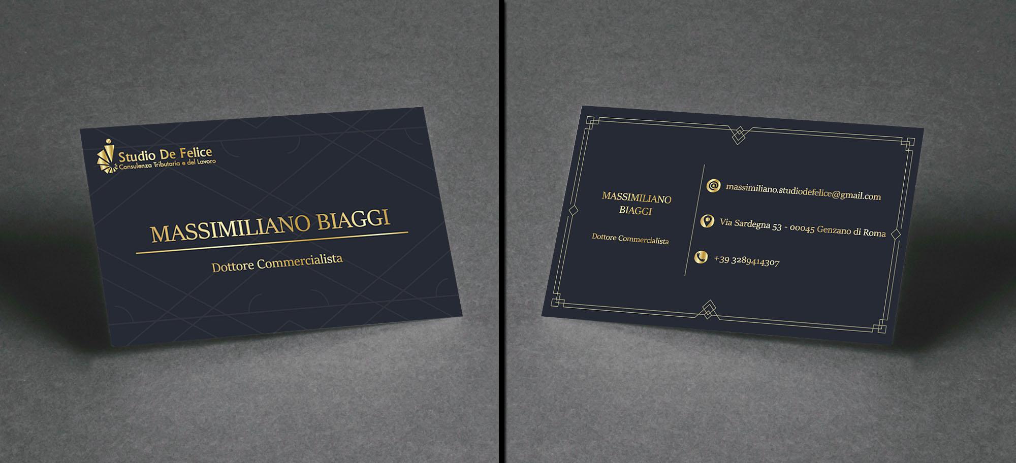 progettazione biglietto da visita per studio commercialista - progettazione biglietto da visita - studio commercialista genzano di Roma
