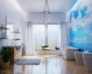 Rendering ristrutturazione bagno - Rendering interni bagno - Rendering casa - Progettazione bagno - Ristrutturazione case - Ditta di ristrutturazione Roma
