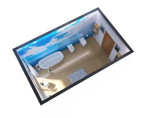 Rendering ristrutturazione bagno - Rendering interni bagno - Rendering casa - Progettazione bagno - Ristrutturazione case
