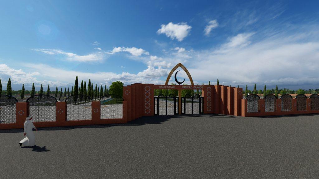 Animazione 3D Roma - Rendering Roma - Animazione 3D cimitero islamico - Rendering cimitero Islamico - Animazione 3D progetto - Rendering 3D progetto