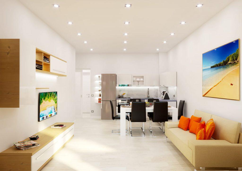 Render ristrutturazione appartamento a Pescara - www.stefanomimmocchirendering.com