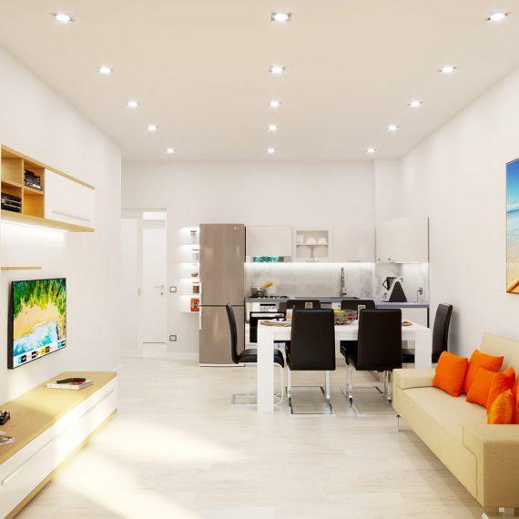 Render ristrutturazione appartamento a Pescara - www.stefanomimmocchirendering.com - rendering cataloghi arredo
