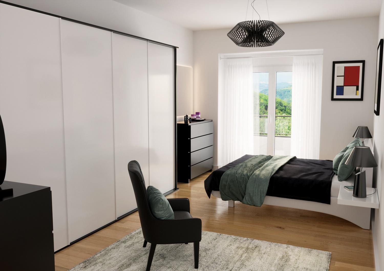 rendering Roma - Rendering agenzia immobiliare Roma - Rendering camera da letto Roma - Render appartamento Roma