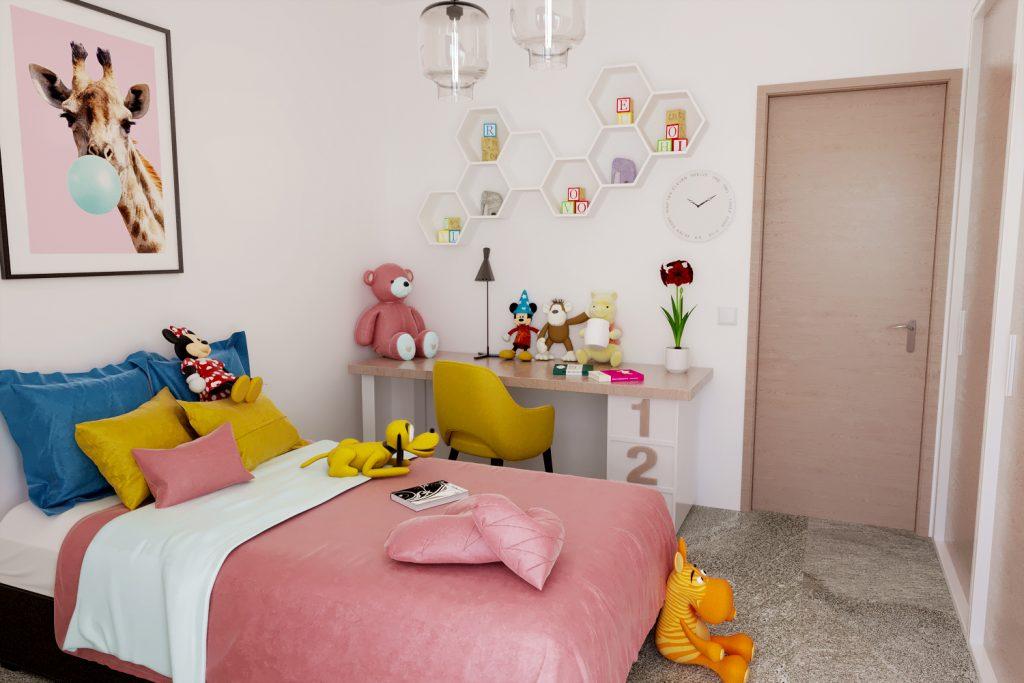 render cameretta per bambini - renderista - render appartamento villino - render per vendita immobile
