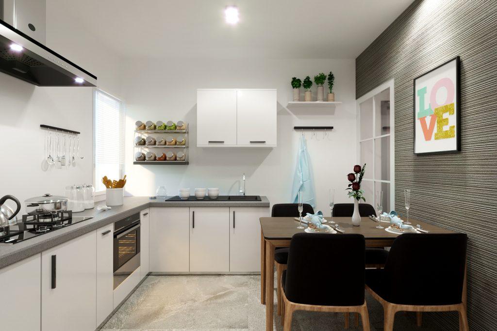render cucina - renderista - render appartamento villino - render per vendita immobile