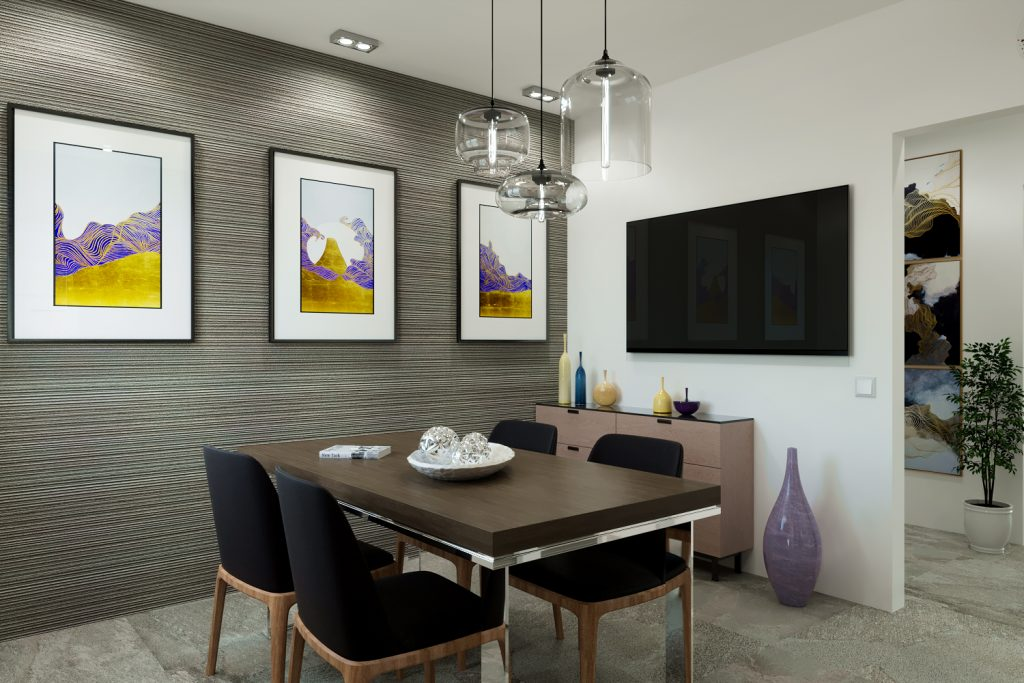 render interni - renderista - render appartamento villino - render per vendita immobile - render sala da pranzo