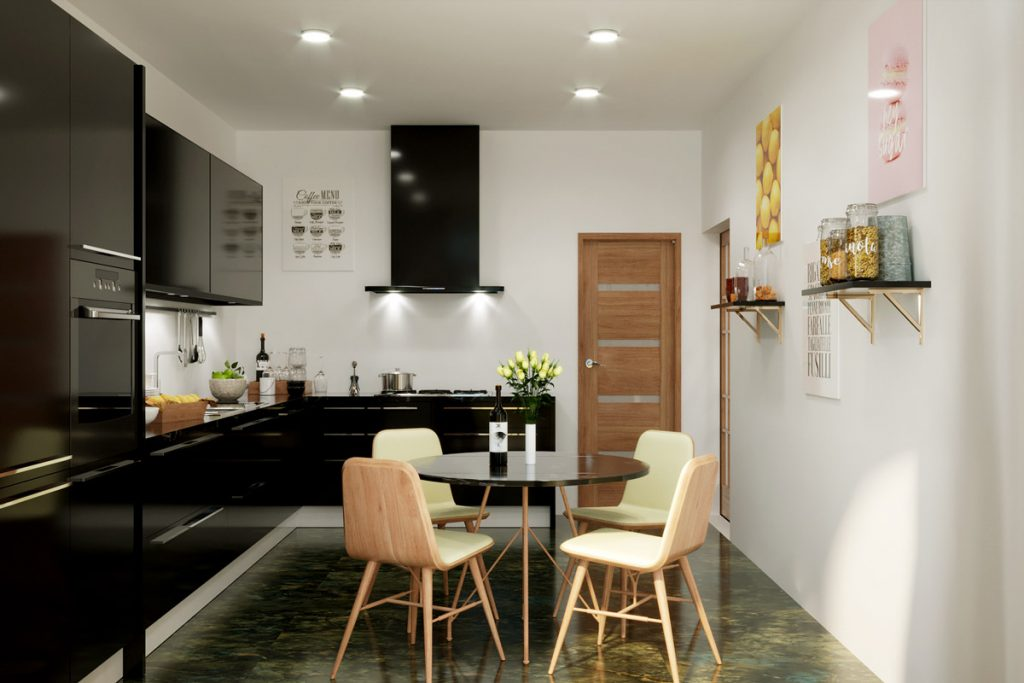 render cucina - render appartamento - animazione 3D cucina