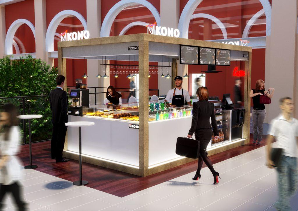 render progetto di concorso - render area ristorazione Torino - render locale commerciale - render zona commerciale