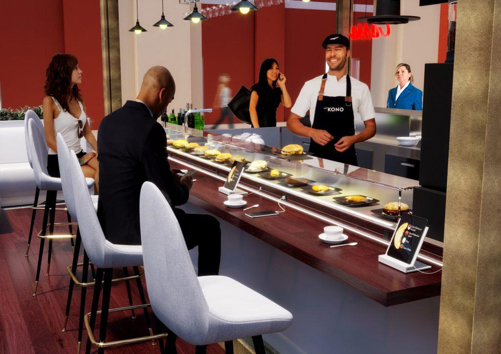 render progetto di concorso - render area ristorazione Torino - render locale commerciale - render zona commerciale - Rendering chiosco