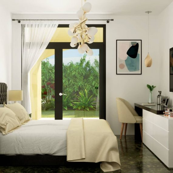 render interni progetto villino - render camera da letto - rendering progetto appartamento - preventivo rendering foto realistici