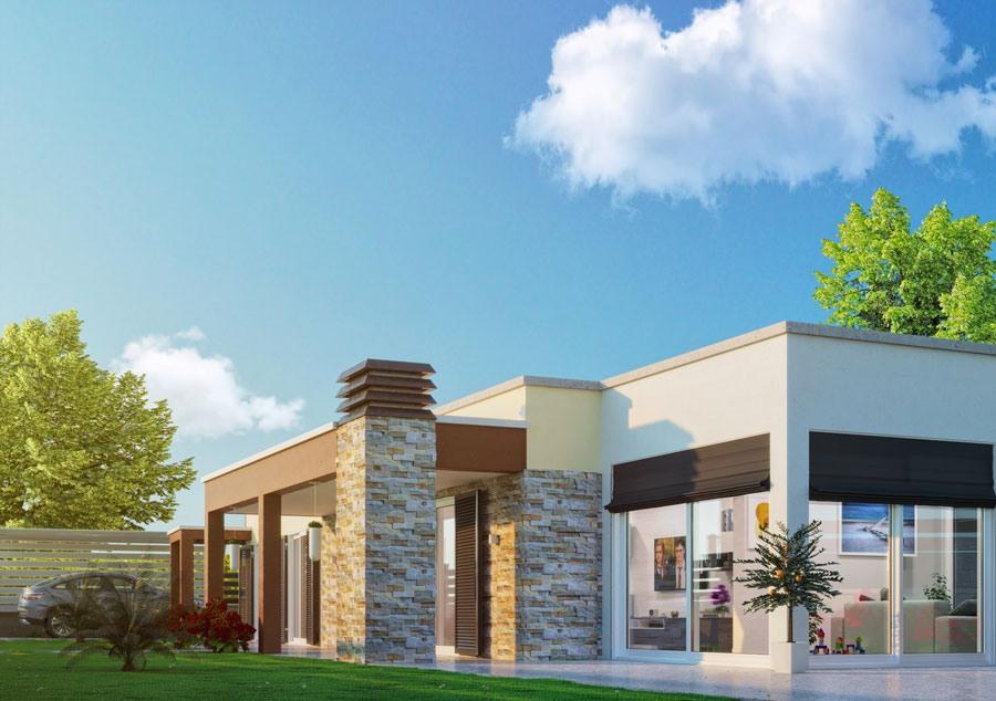Rendering esterni villa bifamiliare - Villa exterior rendering