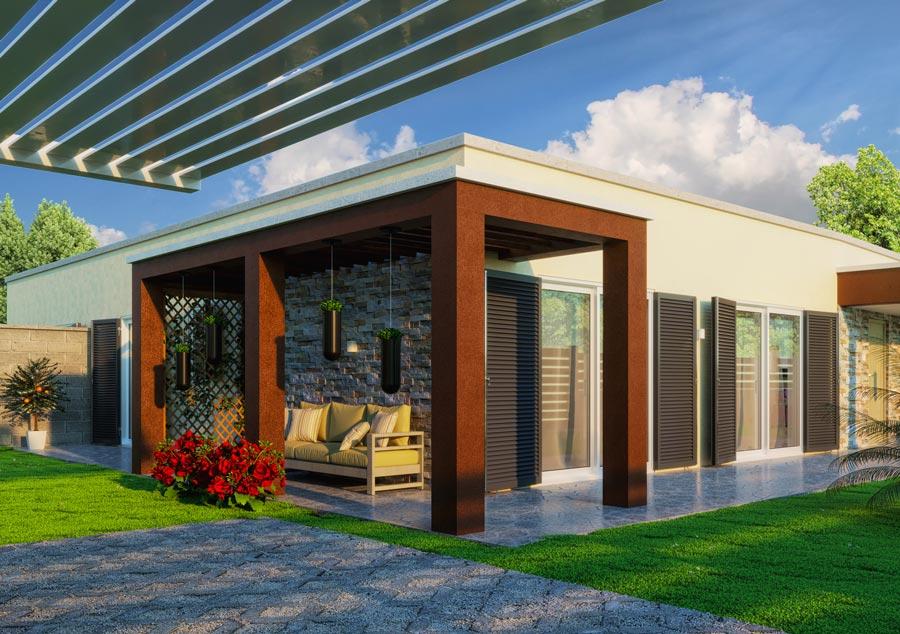 Rendering esterni villino - Rendering esterni agenzia immobiliare - Villa exterior rendering