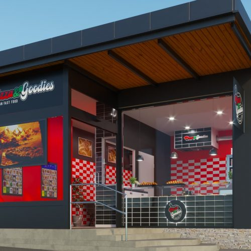 Rendering progetto locale commerciale - Rendering Austria - Rendering pizzeria - Rendering riqualificazione ambienti