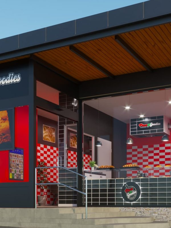 Rendering progetto locale commerciale - Rendering Austria - Rendering pizzeria - Rendering riqualificazione ambienti