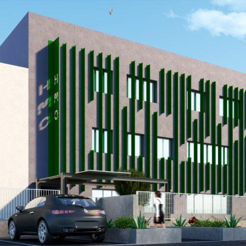 Rendering ristrutturazione facciata edificio - Rendering ristrutturazione edificio - Renderista per progetto ristrutturazione