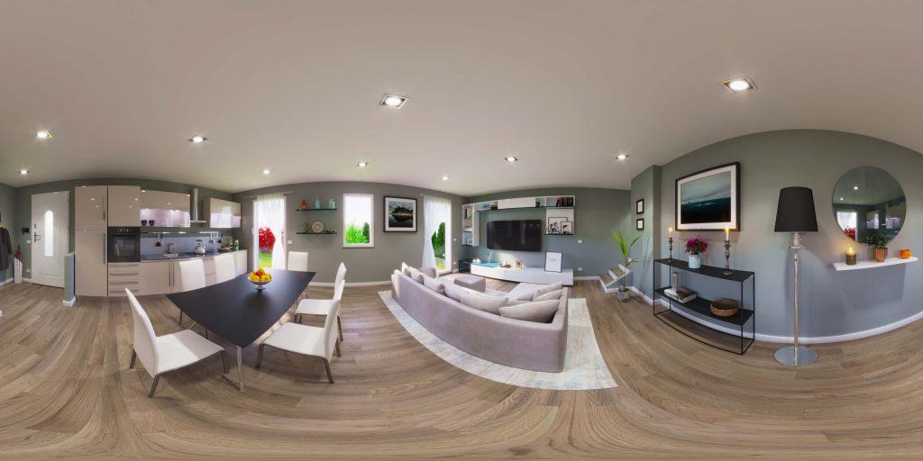 rendering salotto - rendering agenzia immobiliare - rendering vendita appartamento - rendering ristrutturazione villino - rendering 360 agenzia immobiliare - virtual tour 360 vendita villino